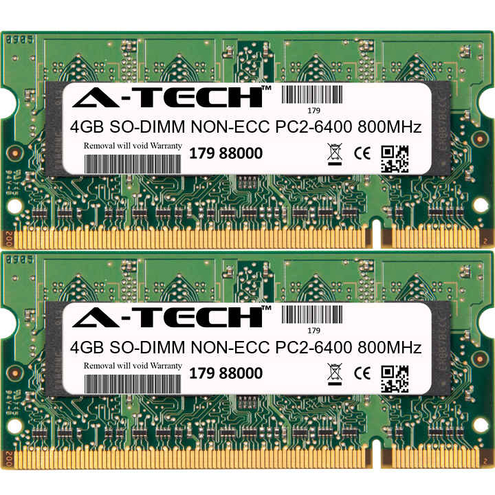 8GB KIT 2 x 4GB Toshiba Qosmio F50-10B F50-10G F50-10K F50-10M Ram Memory