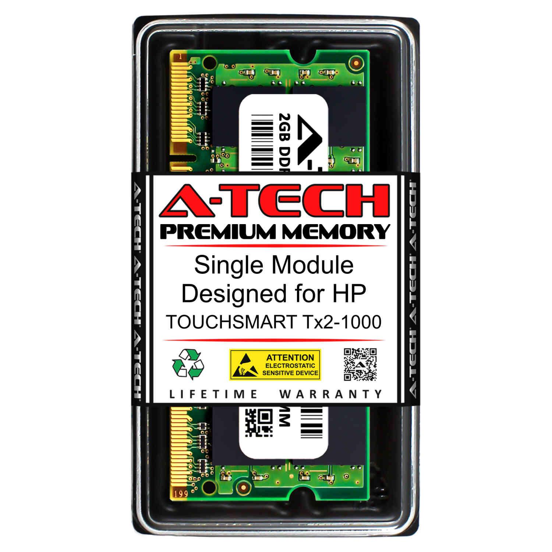 DDR2 800MHz SODIMM PC2-6400 200-Pin Non-ECC Memory Upgrade Module A-Tech 2GB RAM for HP TOUCHSMART TX2-1000