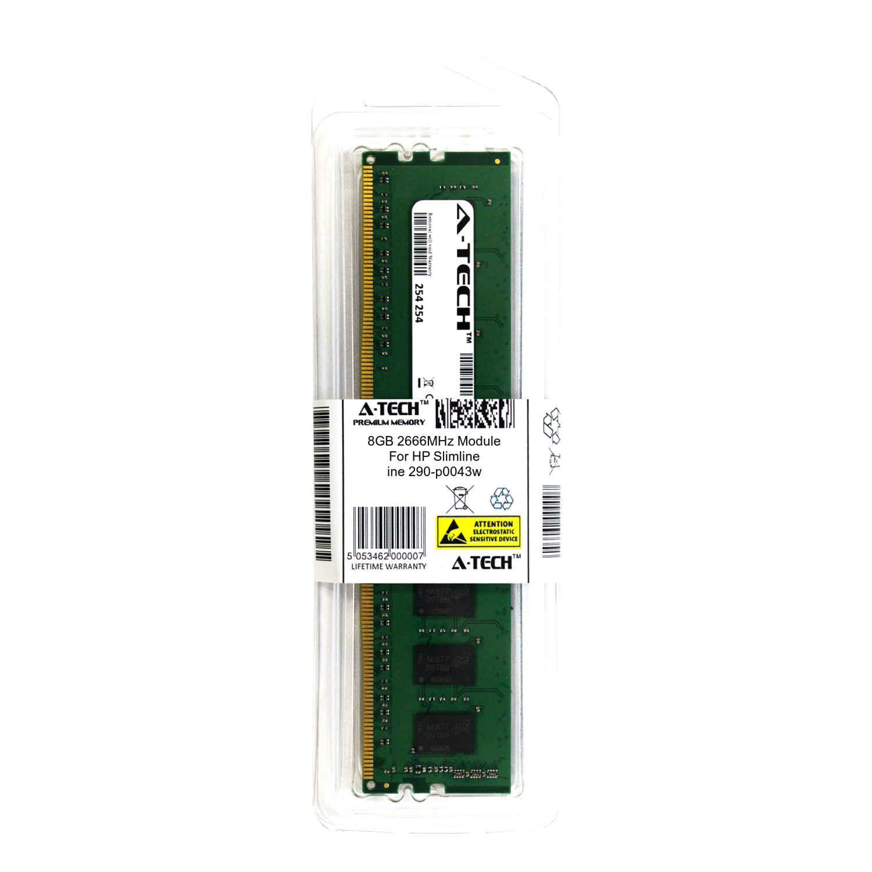 A-Tech 8GB 2666MHz DDR4 RAM for HP Slimline 290-p0043w Desktop Memory Upgrade