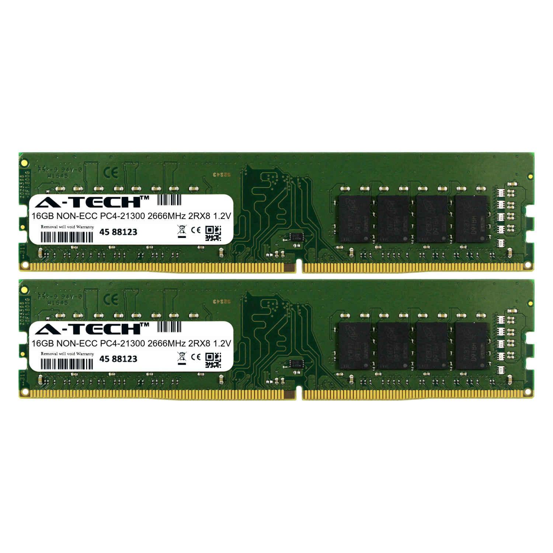 A-Tech 16GB 2 x 8GB DDR4 2666 MHz Desktop PC4-21300 DIMM 1Rx8 Memory RAM 8G 16G
