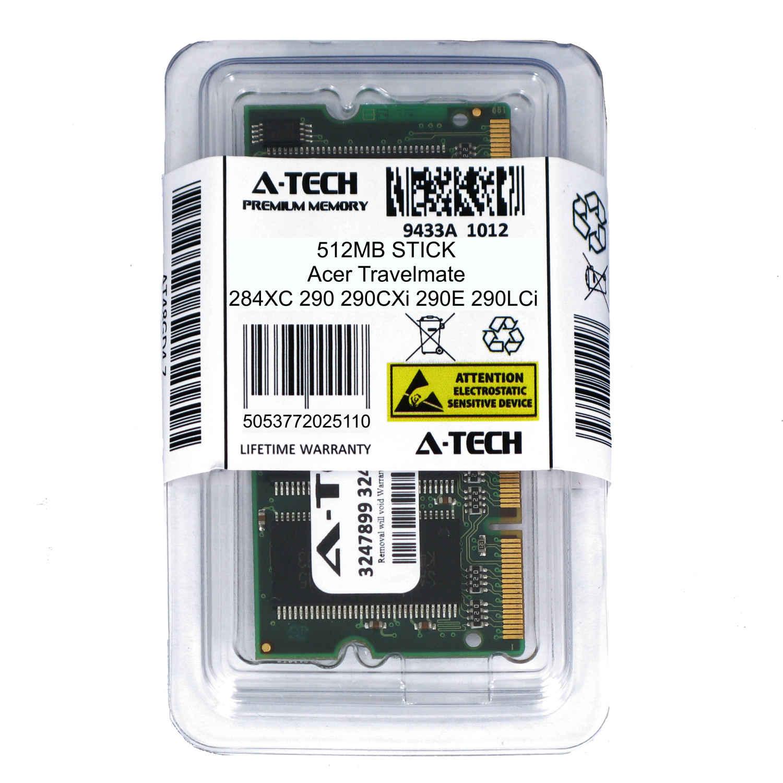 512MB SODIMM Acer Travelmate 284XC 290 290CXi 290E 290LCi 290LMi Ram Memory