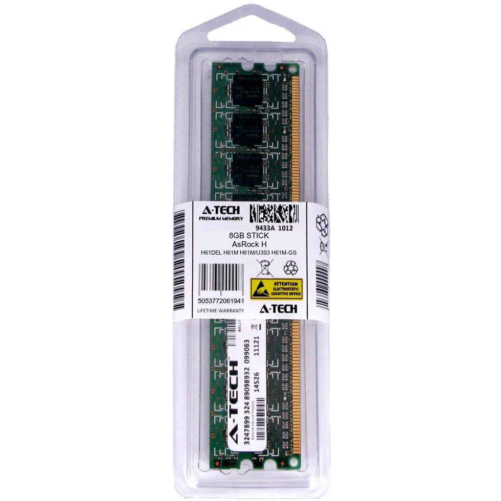 4GB Memory Upgrade for ASRock Motherboard H61M-PS4 DDR3 P3-12800 1600MHz NON-ECC Desktop DIMM RAM Upgrade PARTS-QUICK BRAND