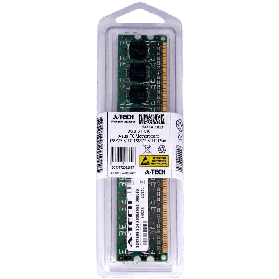 PARTS-QUICK BRAND 8GB DDR3 Memory for ASUS P8 Motherboard P8Z77-V LX PC3-12800 1600MHz NON-ECC Desktop DIMM RAM Upgrade