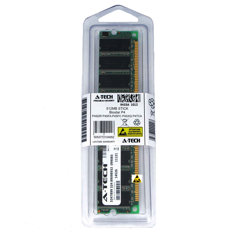 512MB Biostar P4SDR P4SXQ P4TDG P4TDH P4TGE Ram MEMORY