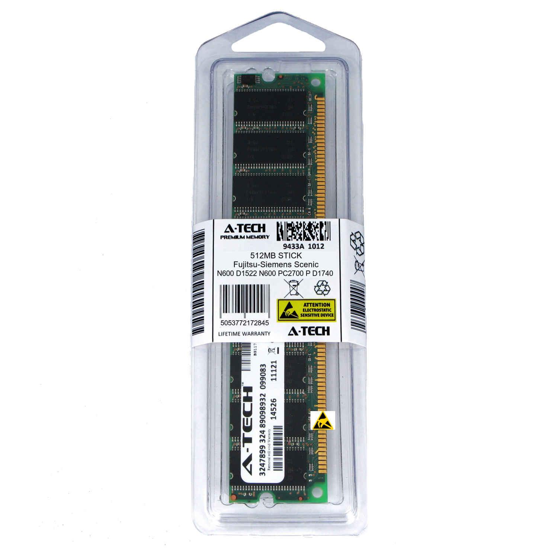 512MB DIMM Fujitsu-Siemens Scenic N600 D1522 N600 PC2700 P D1740 Ram Memory