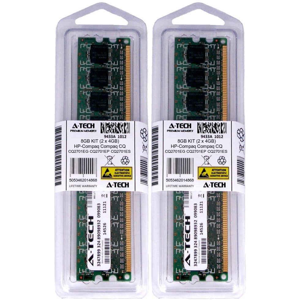 8GB KIT 2 x 4GB HP Compaq CQ2701EG CQ2701EP CQ2701ES PC3-8500 Ram Memory