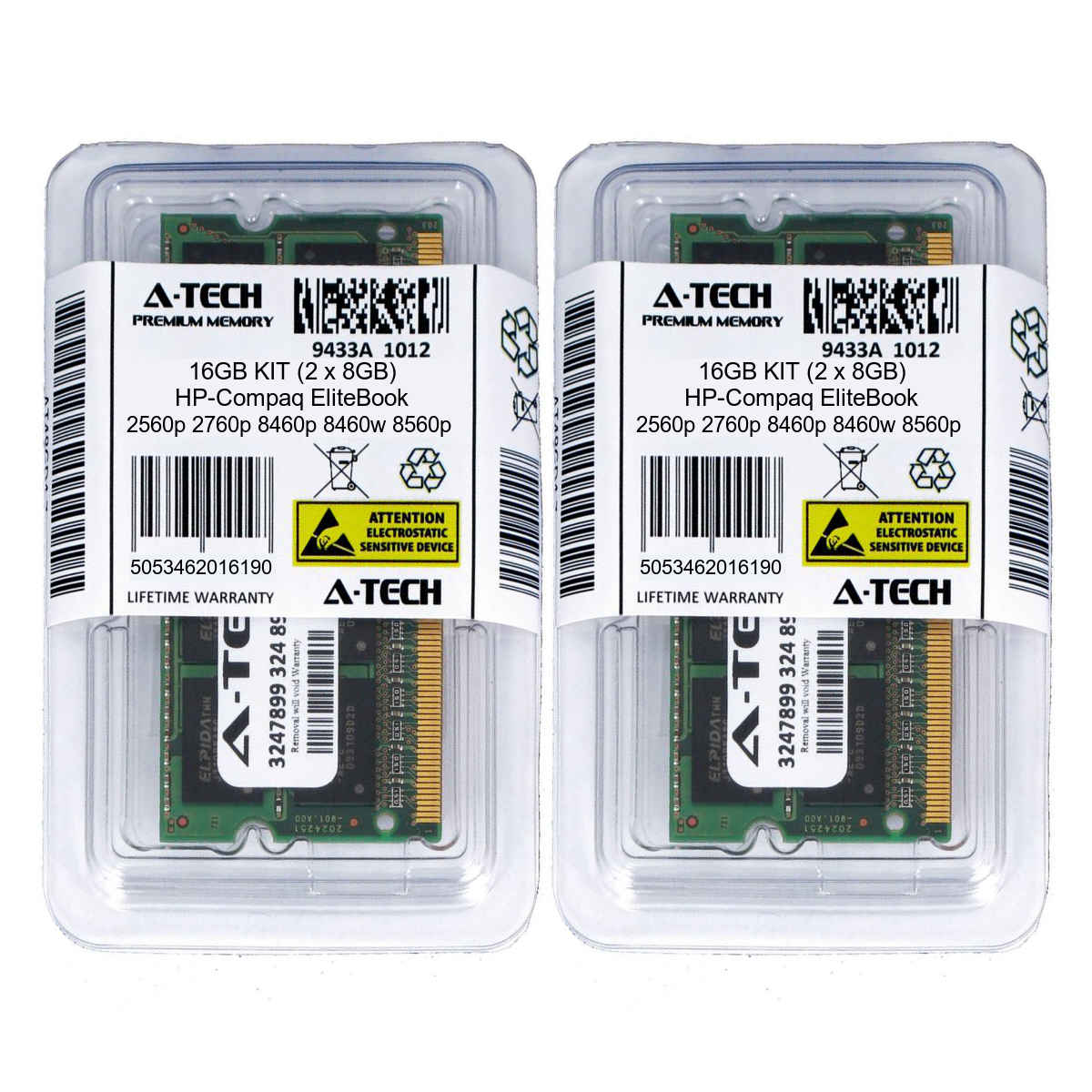 16GB KIT 2 x 8GB HP EliteBook 840 G1 2560p 2760p 8460p 8460w 8560p Memory Ram