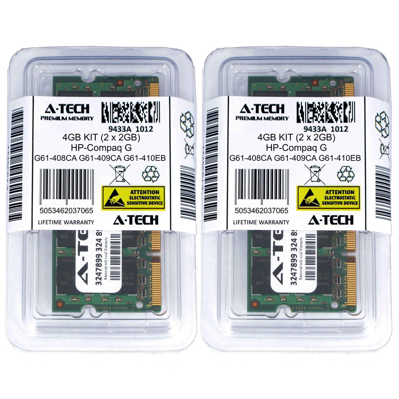 4GB KIT 2 x 2GB HP Compaq G61-408CA G61-409CA G61-410EB G61-410ED Ram Memory