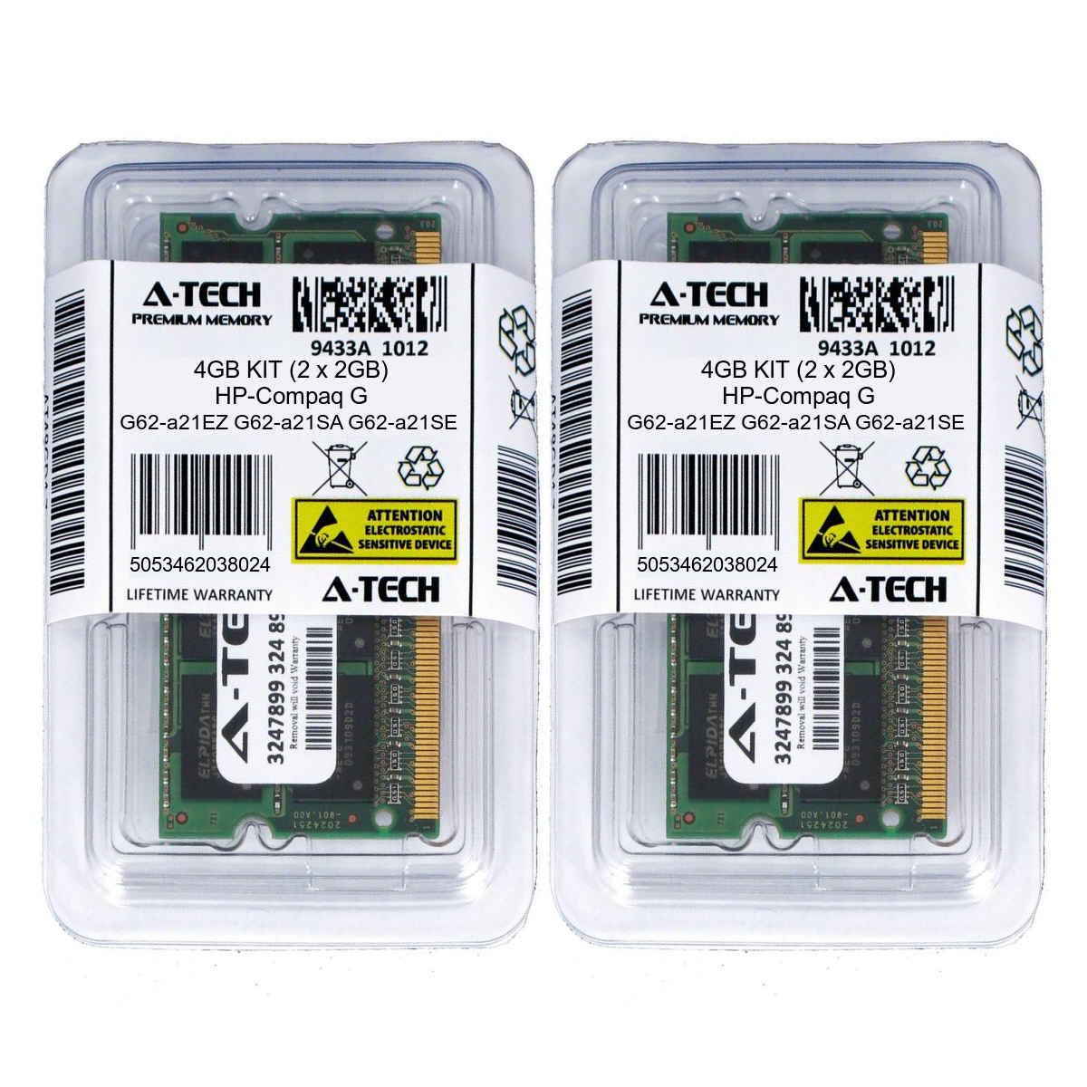4GB KIT 2 x 2GB HP Compaq G71-448CL G71-449WM G71t G72 G72-214CA Ram Memory