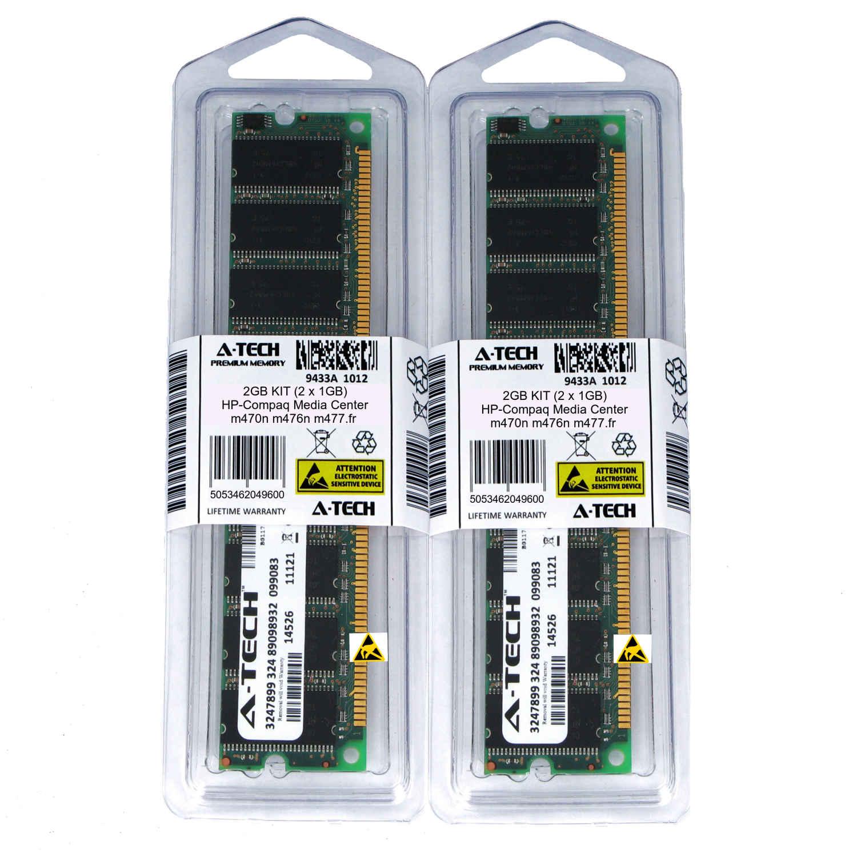 2GB KIT 2 x 1GB HP Compaq Media Center m1070n m1072n m1075 PC3200 Ram Memory