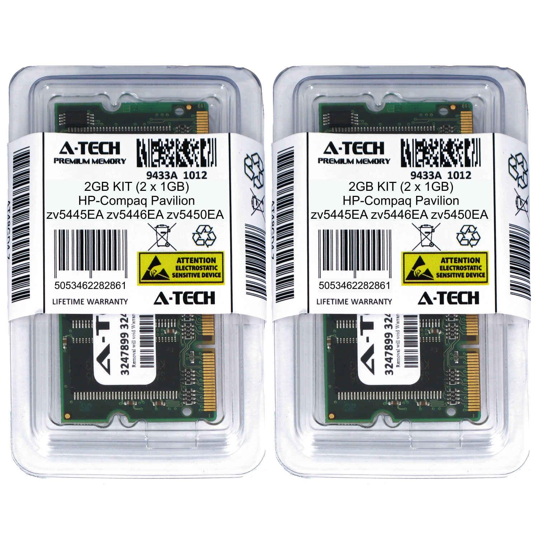 2GB KIT 2 x 1GB HP Compaq Pavilion zv5445EA zv5446EA zv5450EA Ram Memory