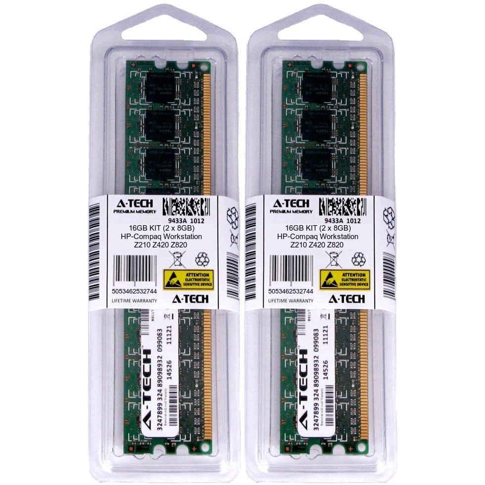 DDR3 1066MHz PC3-8500 Dual Rank x4 ECC Registered DIMM RAM Upgrade A-Tech 64GB Memory Kit for HP Workstation Z420 8X 8GB