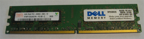 1GB PC2-5300 Gateway S-5405D S-5405S S-5615D Memory Ram